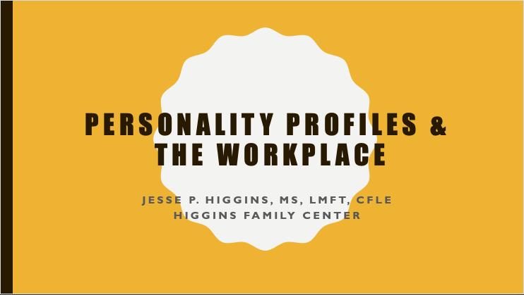 TriCounty Health 2018 – Personality Profiles